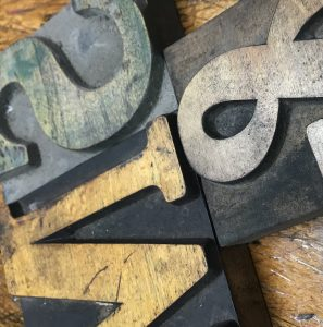 Wooden type letterpress detail