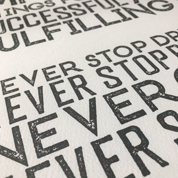 5 Things letterpress Print