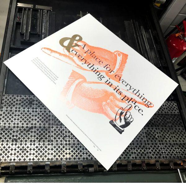 Letterpress Poster Print