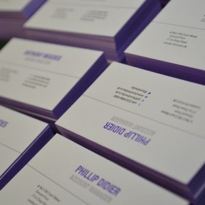 2 colour letterpress Business cards