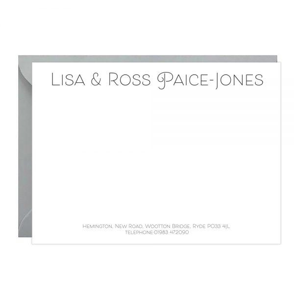 LEtterpress Correspondence cards