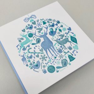 3 Colour letterpress Christmas card