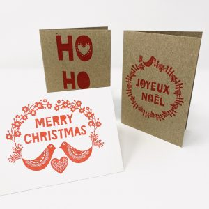 Letterpress Christmas Cards, 3 designs
