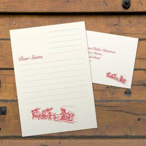 A Letterpress Letter to Santa